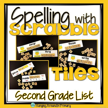 Word Work Centers with Scrabble Tiles - Second Grade Dolch Words