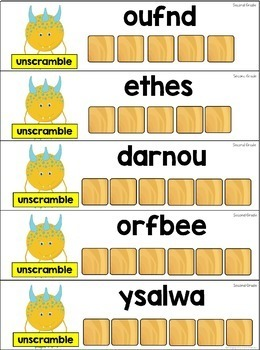 Word Work Sight Word Centers with Scrabble Tiles - Second Grade Words