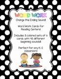 Word Work: Change the Ending Sound Card Set
