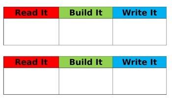 Word Work Chart