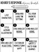 Word Work Choice Board- Choice Menu- Reader's Response Choice Board