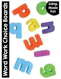 Word Work Choice Boards & Reproducibles {Language Made Fun Series}