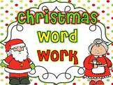 Word Work {Christmas}