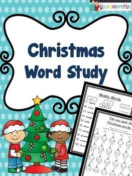 Word Work - Christmas