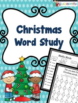 Word Work - Christmas