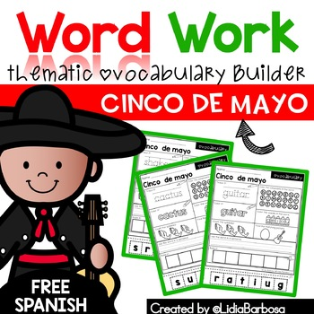 Word Work- Cinco de mayo Vocabulary