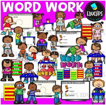 Word Work Clip Art Bundle {Educlips Clipart}