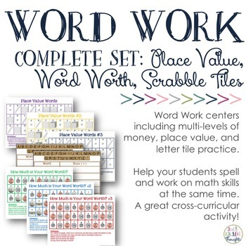 Word Work: Complete Bundle {Place Value Trio, Letter Tiles & Word Worth Trio}