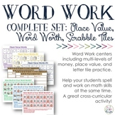 Word Work: Complete Bundle {Place Value Trio, Letter Tiles