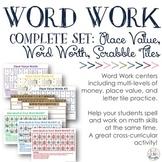 Word Work: Complete Bundle {Place Value Trio, Letter Tiles