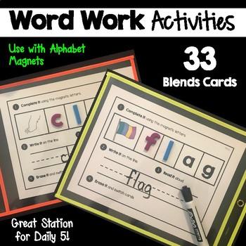 Word Work   Consonant Blends