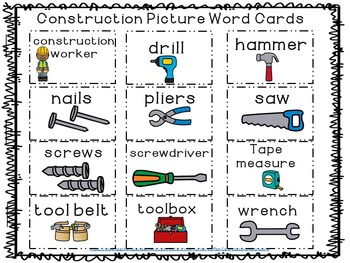 Word Work Construction Site Themed