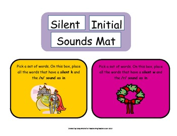 Word Work Word Association & Sort Initial Silent Sounds /n/, /r/ Journeys
