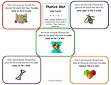 Word Work Daily 5 Hands-on Phonics Mat: Sort Long Vowel Sounds Journeys Unit 1