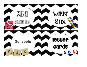 Word Work Daily 5 Labels