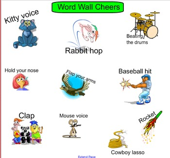 Smartboard: Word Work Daily Cheer/Chant