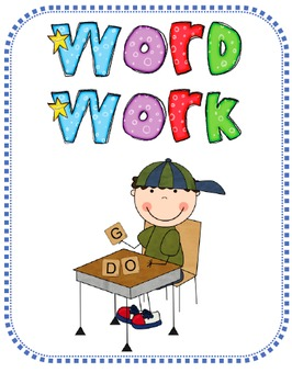 Word Work Daily Expectations and Activities