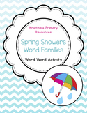 Word Work (Daily Five), Sorting, Spring Rain Showers Word