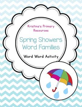 Word Work (Daily Five), Sorting, Spring Rain Showers Word