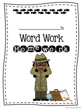 Word Work Detective Homework System {Editable}