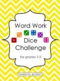 Word Work Dice Challenge for Articulation - Complete Set