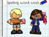 Word Work Digital Notebook