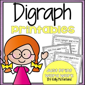 Word Work {Digraph Printables}