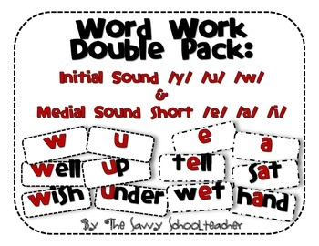 Word Work Double Pack: Initial & Medial Sound