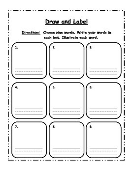 Word Work: Draw and Label