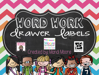 Word Work Drawer Labels