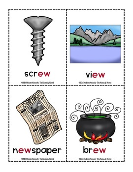 Word Work - EY-OO (moon) Diphthong Sort Center {ABC Order, Anchor Charts, More!}