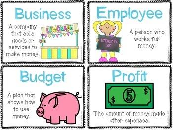 Economics Vocabulary Activities