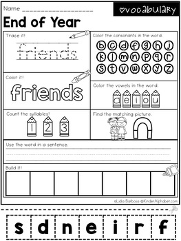 Word Work- End of Year
