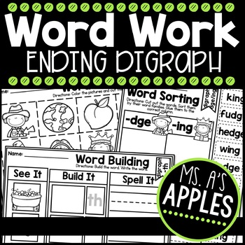 Word Work Ending Digraph