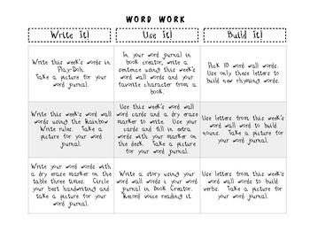 Word Work Enrichment