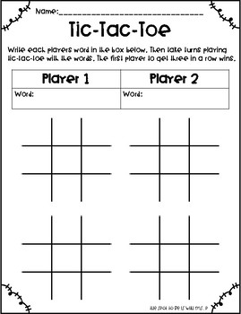 Word Work Enrichment for Gifted Students