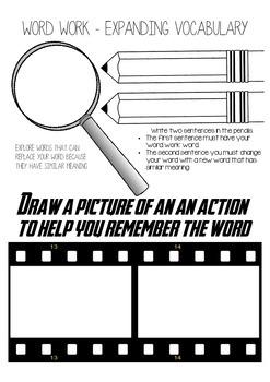 Word Work - Extending Vocabulary