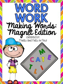 Word Work FREEBIE: Using Magnets to Spell Words