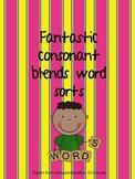Word Work: Fantastic Consonant Blends Word Sorts!
