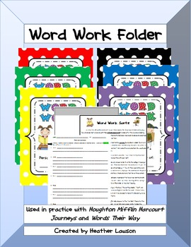 Word Work File Folder