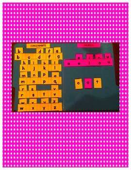 Word Work File Folder With Tiles