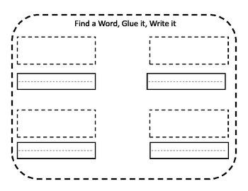 Word Work: Find, Glue, Write