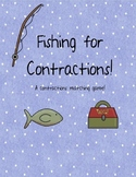 Word Work: Fishing for Contractions: A contractions game!