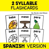 Word Work Flashcards - Spanish Syllables 1
