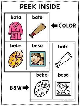 Big Word Work Flashcards - Spanish Syllables 1
