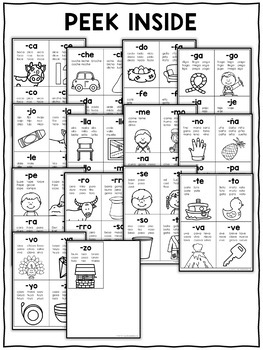 Spanish Word Family Flashcards