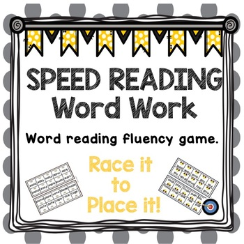 Word Work Fluency Game: Race It to Place It!