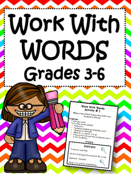 Word Work For Upper Elementary: Vocabulary and Spelling Centers