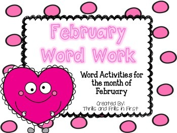 February Word Work Freebie