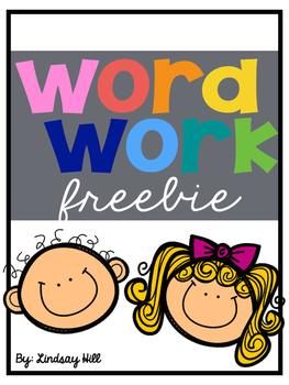 Word Work Freebie